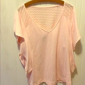 Short sleeve baby pink shirt